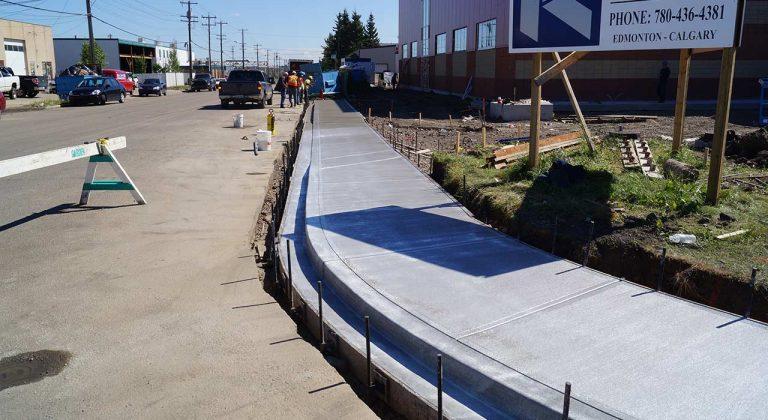 Complete concrete sidewalk edmonton