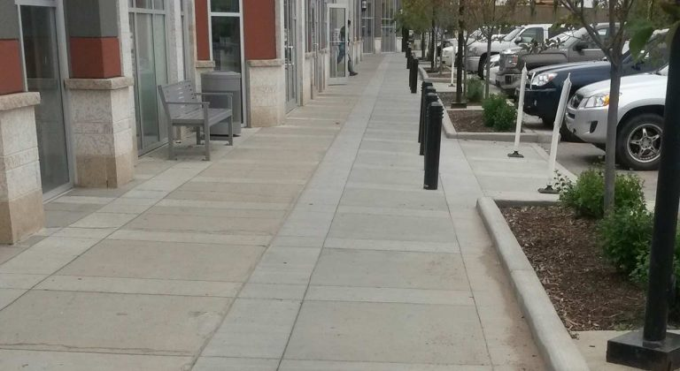 Finished commercial sidewalk in edmonton