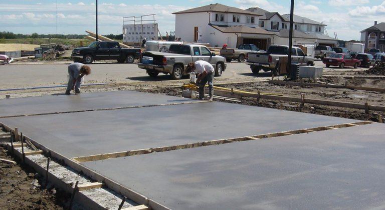 Concrete Driveway being built in Edmonton