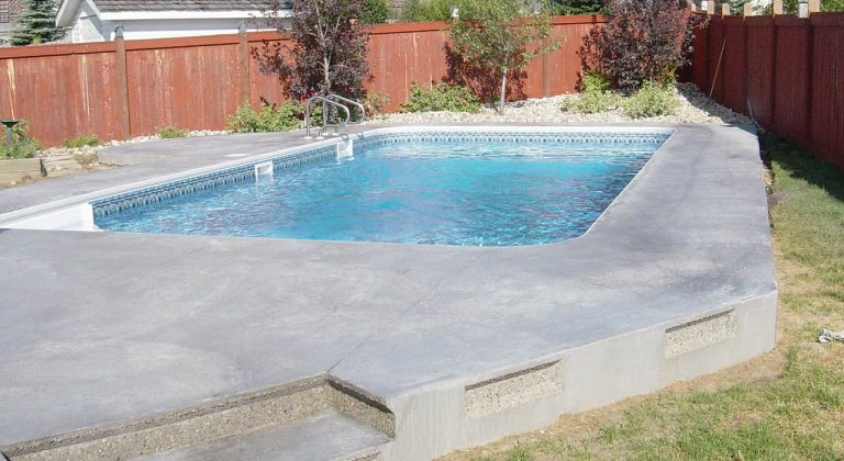 Finished concrete pool edmonton
