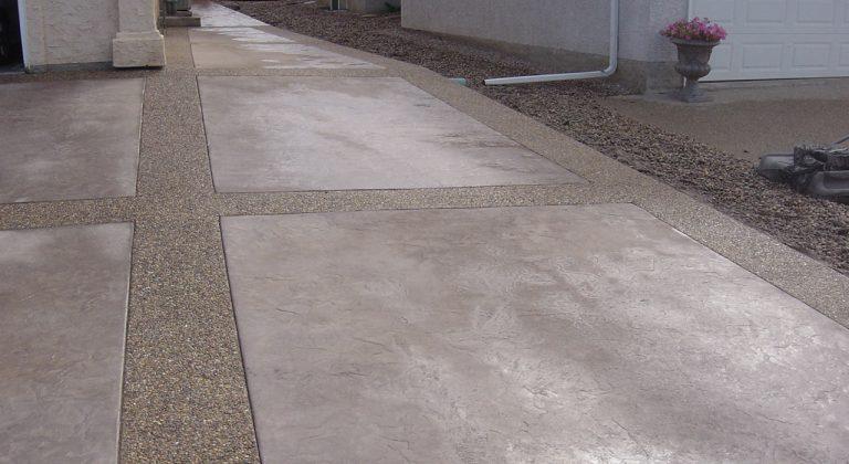 Decorative concrete driveway edmonton