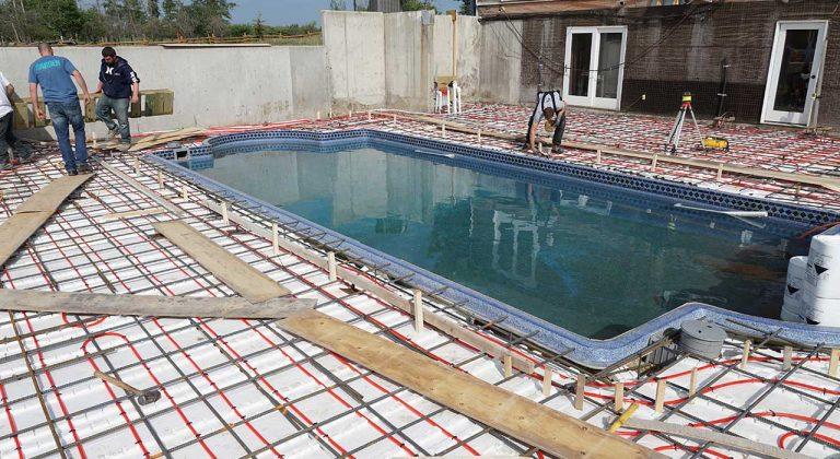 Concrete patio around pool edmonton