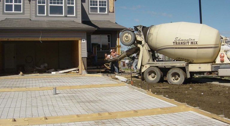 Concrete Driveway being poured in edmonton