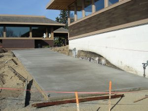 cement sidewalks