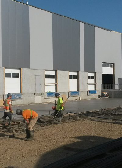 Commercial concrete work being completed in edmonton